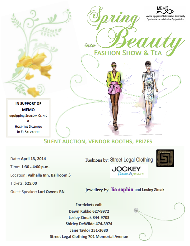 Spring Into Beauty Fashion Show Memo Medical Equipment Modernization Opportunity