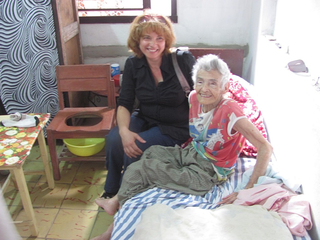 MARTHA DELGADO DISCUSSING HOW TO BE HAPPY, WITH 93 YEAR OLD CUBAN SENIOR BEING CARED FOR AT HOME AFTER A LIFETIME OF LIVING WITH THE AFFECTS OF POLIO.