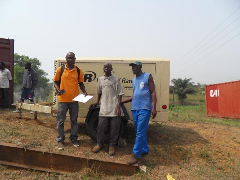 """NOW LIFE WATER HAS RECEIVED THEIR REPLACEMENT AIR COMPRESSOR THEY CAN BEGIN AGAIN DRILLING WELLS TO """"GIVE A CUP OF COOL WATER"""" IN THE NAME OF JESUS"""