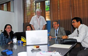 Collaborating with Faculty of the Evangelical University of El Salvador Medical School