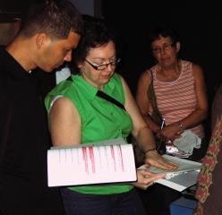 Ruthann teaching in Cuba